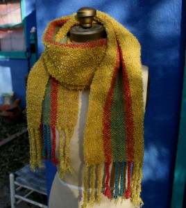 handwoven scarf dyed with natural dyes